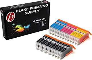 Blake Printing Supply 20 Pack Compatible Ink Cartridges for PIXMA MG5620