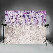 10x8ft Bridal Shower Background Large Wedding Purple Floral Flower Wall Backdrop Dessert Table Photobooth XT-6708