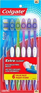 Colgate Extra Clean Full Head Toothbrush, Soft - 6 Count