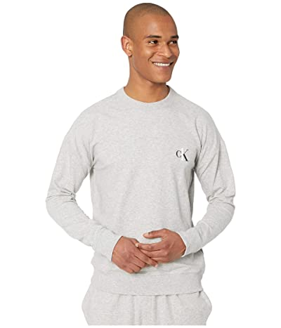 Calvin Klein Underwear CK One Basic Lounge Long Sleeve Crew Neck (Grey Heather) Men