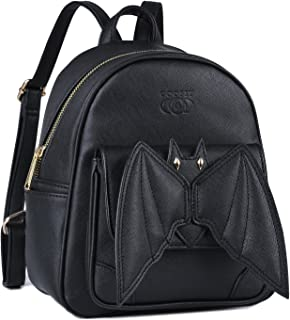 Mini Backpack, COOFIT Bat Purse Gothic Backpack Purse Gothic Bags Mini Backpack for Women