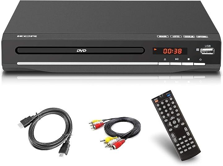 Lettore dvd per tv, dvd / cd / mp3 / mp4 con presa usb, uscita hdmi e av (cavo hdmi e av incluso), telecomando DVD-6605.666
