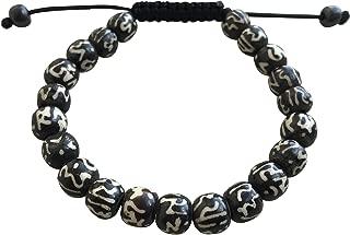 Hands Of Tibet Tibetan Mala Yak Bone Dzi Bead, Om Mani Bead, Wrist Mala Bracelet Prayer Beads Mala Bracelet