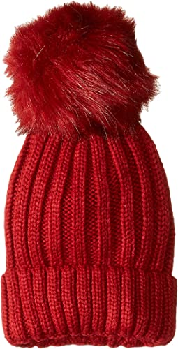 Knit Beanie with Oversized Pom
