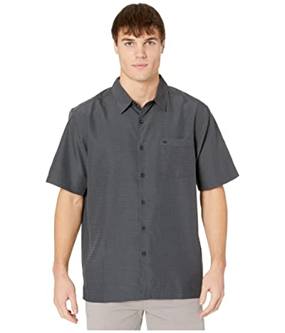 Quiksilver Waterman Centinela 4 Short Sleeve Shirt (Black Centinella) Men