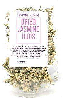 Naturegrail Brand Jasmine Flower Buds - Whole White Jasmine Flower Blossoms (Jasminum Officinale) - Net Weight: 0.70 Ounce...