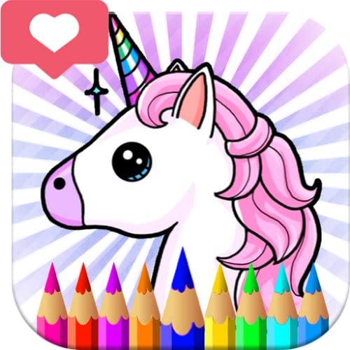 Baby Unicorn Coloring Pages - Magic Rainbow Pony For Kids and Adults