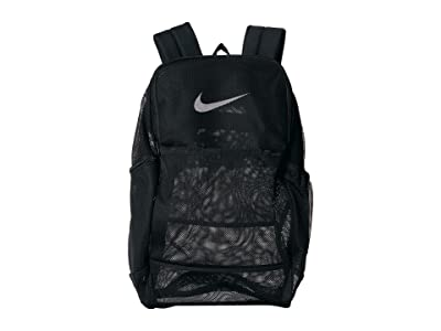 Nike Brasilia Mesh Backpack 9.0 (Black/Black/White) Backpack Bags