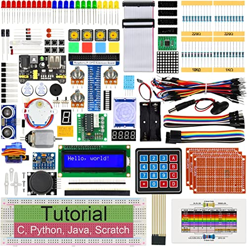 Freenove Ultimate Starter Kit for Raspberry Pi 4 B 3 B+ 400, 561-Page Detailed Tutorials, Python C Java Scratch Code,...