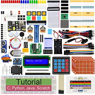 Freenove Ultimate Starter Kit for Raspberry Pi 4 B 3 B+ 400, 561-Page Detailed Tutorials, Python C Java Scratch Code, 223 ...