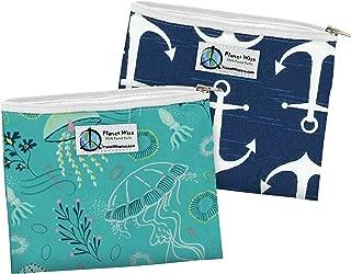 Planet Wise Reusable Zipper Sandwich Bags, 2-Pack, Jelly Jubilee/Overboard
