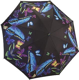 Galleria Reverse Close Folding Umbrella Moonlight Butterflies-Art on Both Sides.
