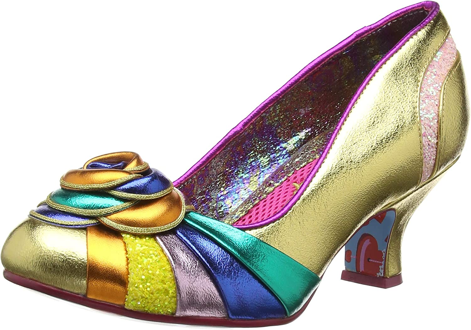 Irregular Choice Stupenda Mid Heel shoes in gold