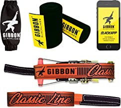 Gibbon Slacklines Classicline XL with treewear, red, 82ft (74ft line + 8ft Ratchet Strap with Reinforced Loop) incl. Ratchet Protection, Tree and line Protection (Black Felt), 50mm/2