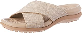 Crocs Women's Cprishmrxbsndlw Flat Sandal