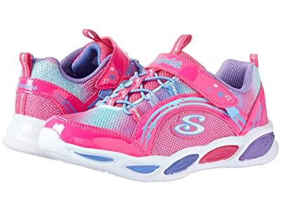 SKECHERS KIDS Shimmer Beams 20269L (Little Kid/Big Kid) (Neon Pink/Multi) Girls Shoes