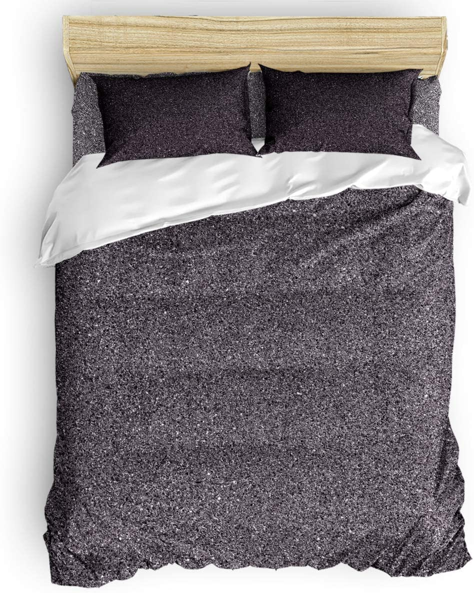 Twin Comforter Covers Sets Gray Mottled Duvet Piece High order 4 Texture Co Great interest