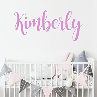 Personalized Custom Name Wall Decal for Baby Girl Nursery Room - Anti-Glare Large Matte Vinyl Monogram Lettering - Safe on Walls & Paint - Made in USA - Handmade to Order