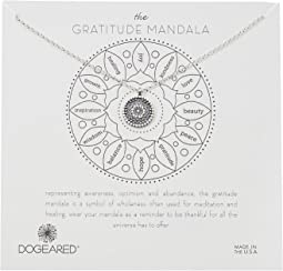 Dogeared The Gratitude Small Center Flower Mandala Necklace