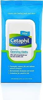 Cetaphil Gentle Skin Cleansing Cloths, Dry Sensitive Skin, Fragrance Free, 50 Count