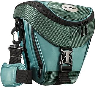 Mantona Premium - Funda para cámara Reflex (Correa para Hombro Cierre de Cremallera y Clip) Color Verde Azulado