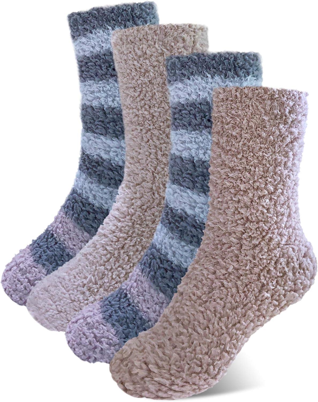 Women Warm Fuzzy Slipper Socks Fluffy Microfiber Plush Soft Socks Sleeping Socks