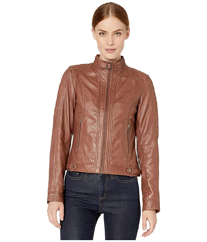 Scully Classic Leather Jacket (Tan) Women's Jacket