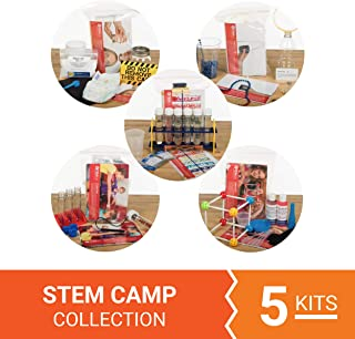 Steve Spangler Science STEM Camp Collection – for Ages 5-11- Includes 5 STEM Activity Kits for Educational Fun – All Materials and Instructions Included – Perform Up to 2 Hours of STEM for 5 Days