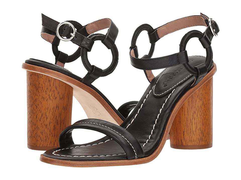 Bernardo Harlow (Black Antique Calf) High Heels