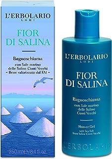 L'erbolario Loti L'erbolario Shower Gel - Fior Di Salina - Water, Citrus Scent - Made With Sea Salt From Saline Conti Vecc...