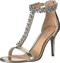 Jewel Badgley Mischka Women's JANNA Sandal, gold, M075 M US