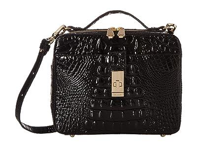 Brahmin Melbourne Evie Satchel (Black) Satchel Handbags