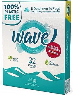 Wave Washing Classic – El Detergente en Hojas – 100% LIBRE DE PLÁSTICO – 32 lavados - Ecológico – Biodegradable – Compostable