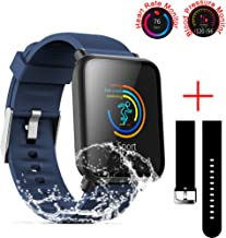 SZHAIYU Blood Pressure Heart Rate Monitor Smart Watch for Android iOS IP67 Waterproof..