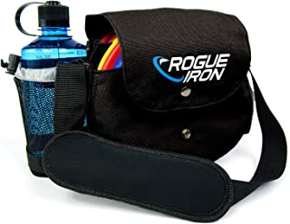 Rogue Iron Disc Golf Bag- Sling Tote Bag for Frisbee Golf - Holds 1-9 Discs, Water Bottle, and Accessories
