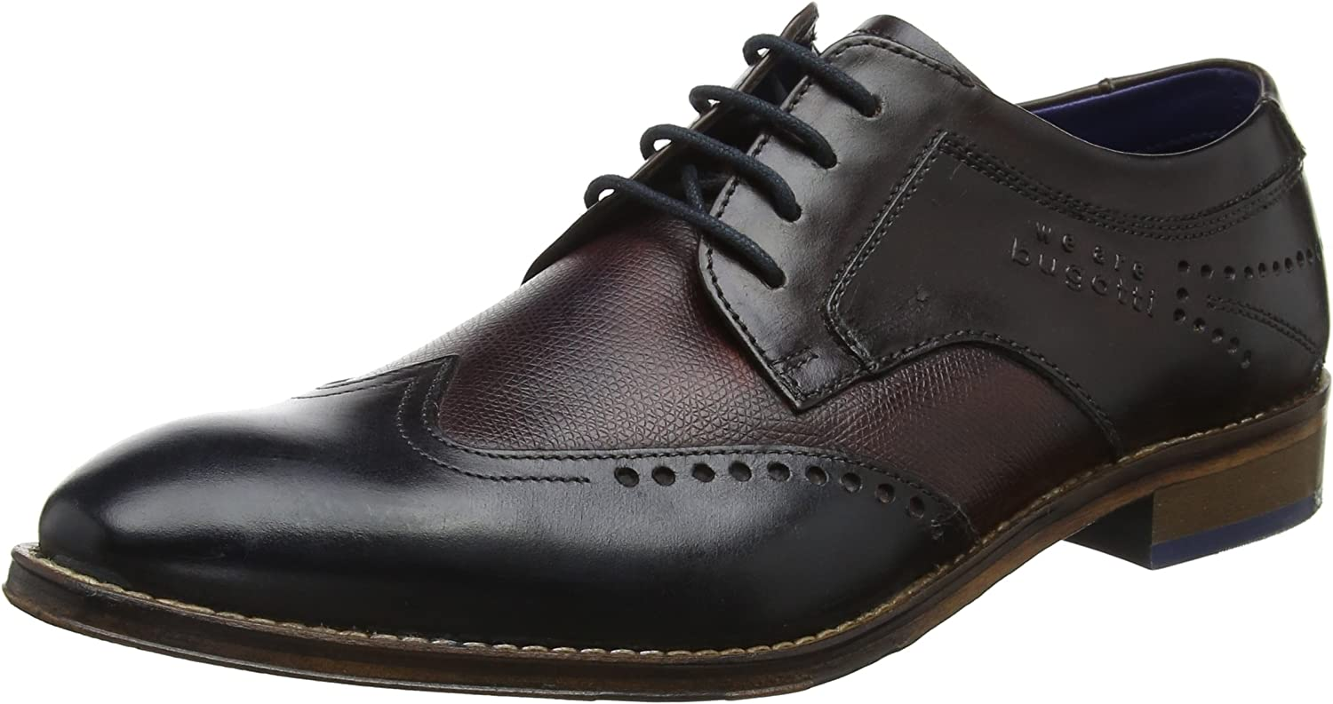 Bugatti Men Lace-up shoes Brown, (Dark bluee Dark bro) 312529011111-4161
