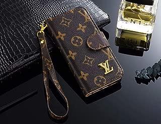 iPhone 11 Pro Case,Monogram Magnetic Leather Flip Filo Card Cash Holder Luxury Famous Elegant Strap Wallet Case Cover for iPhone 11 Pro(5.8 Inch)