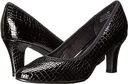 Black Croc Patent Print