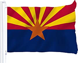 G128 - Arizona State Flag 3x5 ft Printed Brass Grommets 150D Quality Polyester Flag Indoor/Outdoor - Much Thicker and More Durable Than 100D and 75D Polyester
