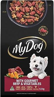 MY DOG Gourmet Beef Dry Dog Food 1.5kg Bag, 4 Pack