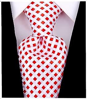 Checkerboard Ties for Men - Woven Necktie - Mens Ties Neck Tie by Scott Allan