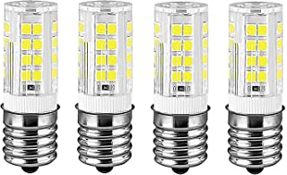 E17 Appliance LED Bulb Dimmable Range Hood Refrigerator Microwave Intermediate Base Light Bulbs (Warm White)
