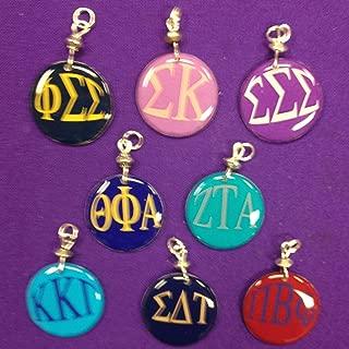 Phi Sigma Sigma, Sigma Kappa, Sigma Sigma Sigma, Theta Phi Alpha, Zeta Tau Alpha, Kappa Kappa Gamma, Sigma Delta Tau, Pi Beta Phi Charms