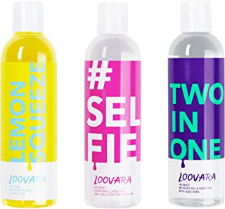 Loovara Value Pack 3X 250 ml – smörjmedel gel & massageolja i ett prisvärt paket med 3 – perfekt paket för passionerat sex...