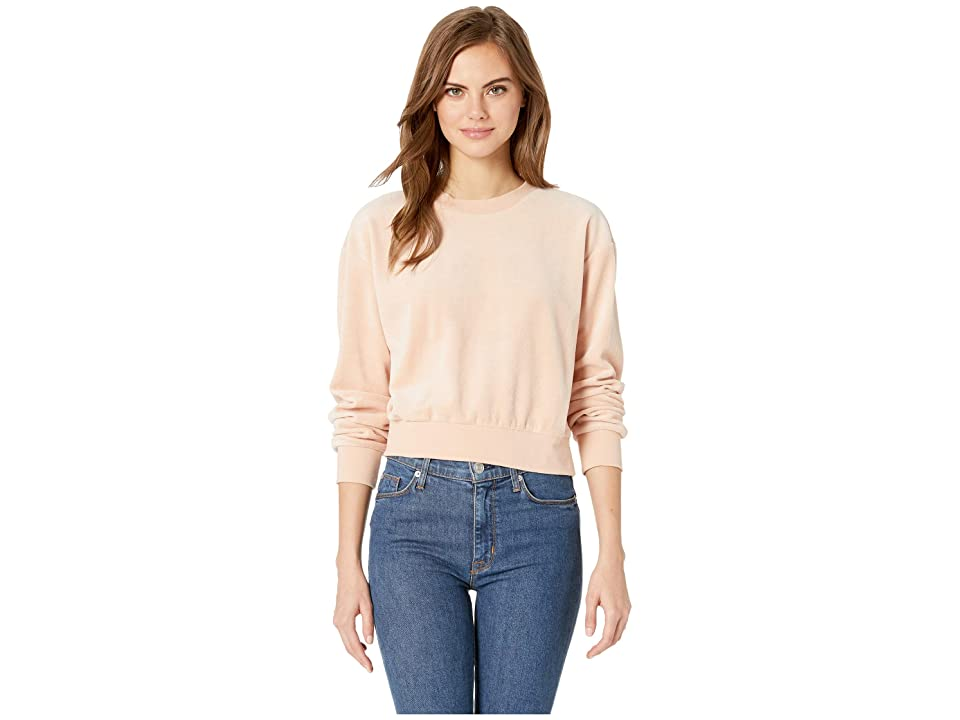 RVCA Babs Velour Fleece Sweater (Tea Rose) Women