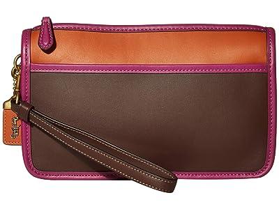 COACH Britt Wristlet (B4/Dark Teak Multi) Handbags