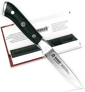 HANZO Paring Professional Chef Knife - 3.75 inch Katana Series - 67 ply Japanese VG10 steel - G10 Military Grade Custom Contoured Handle – Outstanding handling and edge retention