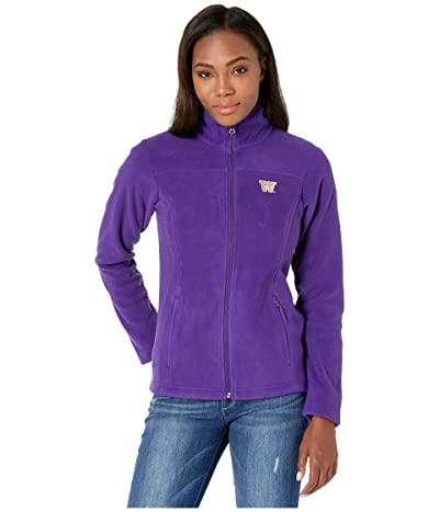 Columbia College Washington Huskies CLG Give and Gotm II Full Zip Fleece Jacket (Purple) Women