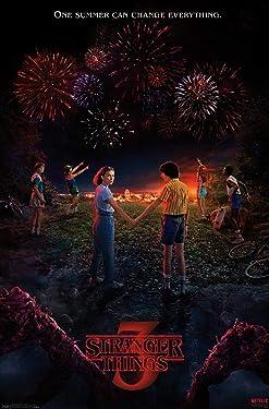 "Trends International Netflix Stranger Things: Season 3 - Key Art Wall Poster, 22.375"" x 34"", Unframed Version"