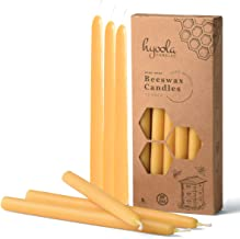 """9"""" Beeswax Taper Candles 12 Pack - Handmade, All Natural, 100% Pure Scented Bee Wax Candle - Tall, Decorative, Golden Yell..."""
